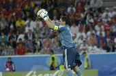 INNSBRUCK - JUNE 10: Iker Casillas goalkeeper and captain of Spain Football National Team during the match Spain-Russia 4:1 Euro2008 Group D June 10, 2008, in Innsbruck, Austria