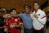 YEREVAN - AUGUST 20: Cristiano Ronaldo, Portugal football star arrives at Armenia's Zvartnots Airpor