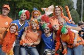 BERN - JUNE 9: Holland football team fans before Holland - Italy match. UEFA EURO 2008 GROUP C.  Jun