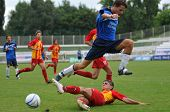 KAPOSVAR, HUNGARY - JULY 25: Unidentified players in action at the V. Youth Football Festival Under
