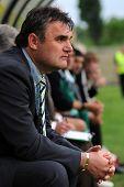 KAPOSVAR, HUNGARY - MAY 8: Attia Pinter (Gyor's trainer) at a Hungarian National Championship soccer