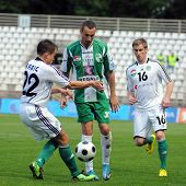 KAPOSVAR, HUNGARY - MAY 8: Babic (L), Stanic (C) and Kink (R) in action at a Hungarian National Cham