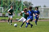 KAPOSVAR, HUNGARY - JUNE 12: Armin Prukner (2nd from L) in action at the Hungarian National Champion