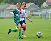 KAPOSVAR, HUNGARY - SEPTEMBER 4: Akos Veto (L) in action at the Hungarian National Championship unde