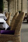 Chic Outdoor Restaurant Seating poster