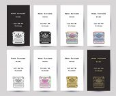 Set Of Business Cards With Hand Drawn Vintage Typewriter poster