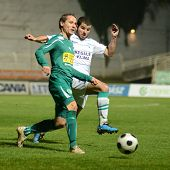 KAPOSVAR, HUNGARY - NOVEMBER 19: Pedro Sass (in white) in action at a Hungarian National Championshi