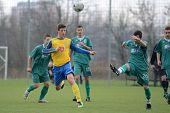 KAPOSVAR, HUNGARY - NOVEMBER 20: Daniel Pager (20) in action at the Hungarian National Championship under 19 game between Kaposvari Rakoczi and Puskas Academy November 20, 2010 in Kaposvar, Hungary.