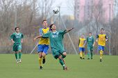 KAPOSVAR, HUNGARY - NOVEMBER 20: Daniel Bakos (3rd from L) in action at the Hungarian National Champ