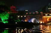 Lighted Lake In Guilin