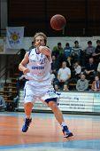 KAPOSVAR, HUNGARY - FEBRUARY 26: Joshua Wilson in action at a Hungarian National Championship basket