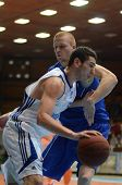 KAPOSVAR, HUNGARY - FEBRUARY 26: Unidentified players in action at a Hungarian National Championship