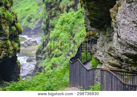poster of Bordalsgjelet Gorge, Norway, Scandinavia, Tourism, This Place Is Situated Near From Voss Town.