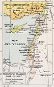 Medieval Eastern Mediterranean old map. By Paul Vidal de Lablache, Atlas Classique, Librerie Colin,
