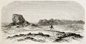 Seleucia old view, Mesopotamia (nowadays Iraq). Created by De Bar after Lejean, published on Le Tour