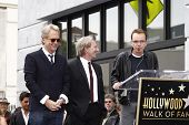 LOS ANGELES - FEB 6: Gerry Beckley; Dewey Bunnell; Billy Bob Thornton at a ceremony where rock band 'America' in honored with a star on the Hollywood Walk of Fame in Los Angeles, California. Feb 6, 2012