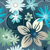 Floral Pattern In Blue