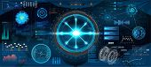 Futuristic Interface Hud Design For Business App. Abstract Technology, Concept Futuristic Sci-fi Use poster