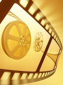 Film Reel Close-Up