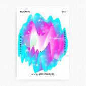 Universe Flyer. Holographic Gradients. 3d Magic Dreamer Unicorn Sparkles. Galactic, Stellar Science  poster