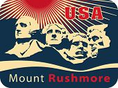 Mount Rushmore National Memorial, EPS 8, CMYK. USA landmark, Shrine of Democracy.