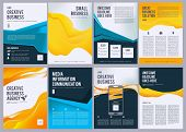 Business Flyers. Vector Creative Brochure Abstract Geometric Forms Magazine Covers Vector Template.  poster