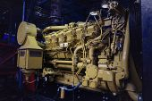 The Car Engine, Engine, Car Engine . Close Up Shot Of Common Rail Diesel Engine. Drilling Pump poster