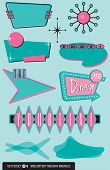 Set of 10 Retro, 1950's Style Elements