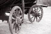 Old carriage closeup