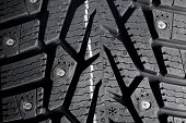 Winter thorn tire texture