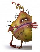 stock photo of microbes  - Germ monster - JPG