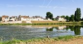 Riverside Small Provincial Town Amboise On The Bank Of Loire, France