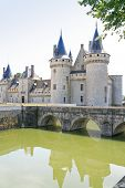 Towers Of Medieval Chateau Sully-sur-loire, France