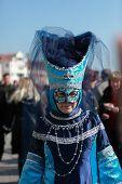 Blue Venetian Costume