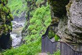 Bordalsgjelet Gorge, Norway, Scandinavia, Tourism, This Place Is Situated Near From Voss Town. poster