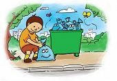 bagging trash