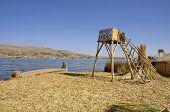 Uros Floating Island in Lake Titicaca, Peru
