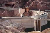 stock photo of dam  - Hoover Dam - JPG