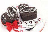 Chocolate souffle heart