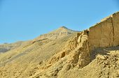 The peak of Al-Qurn, mountain opposite Luxor, Egypt