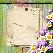 ?ard For Greeting Or Invitation On The Abstract Wooden Background.