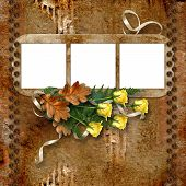 Frameworks For Photo With A Roses On The Vintage Background.
