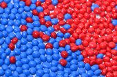 blue and red polymer resin