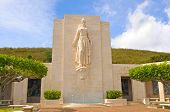 image of punchbowl  - Memorial statue in the National Cemetery of the Pacific  - JPG