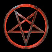 Sinister looking inverted pentagram