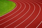 Athletics Running Track Curve