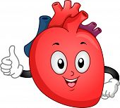 Mascot Illustration of a Heart Giving a Thumbs Up