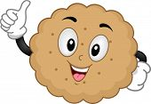 Mascot Illustration of a Biscuit Giving a Thumbs Up