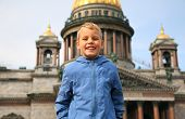 Smiling Boy In Sankt-Petersburg