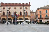 Piazza Del Popolo In Ravenna, Italy